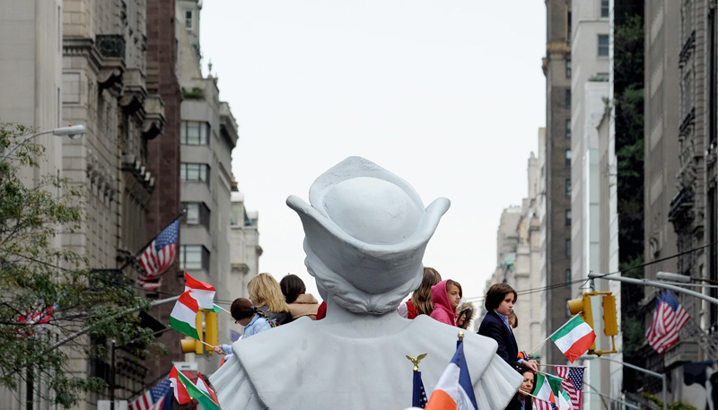 Annual Columbus Day parade in New York
