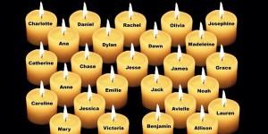 fot. Imiona dzieci tragicznie zmarłych w Newtown 14 grudnia