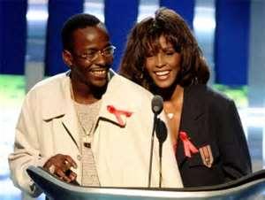 fot. Whitney Houston z mężem Bobbym Brownem
