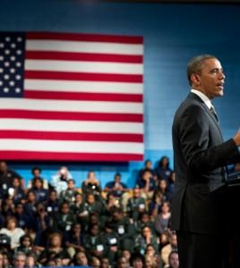 fot. White House/ Barack Obama w czasie wizyty w Cicago mówił o zastrzeniu przepisów dotyczących posiadania broni