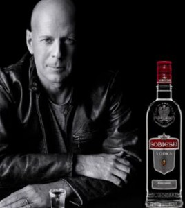 Bruce Willis Sobieski Vodka