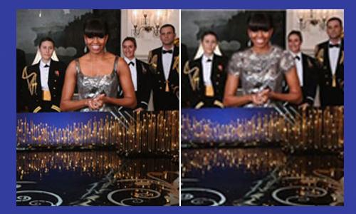 fot. Michelle Obama przed i po photoshopie