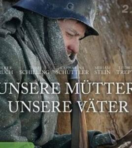 """fot. fragment plakatu z filmu """"Nasze matki, nasi ojcowie"""""""