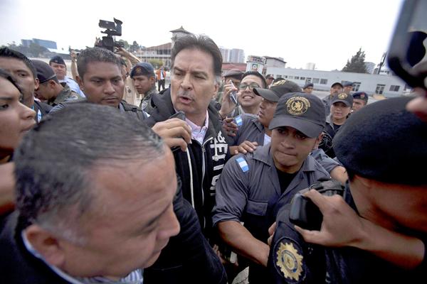 Były prezydent Gwatemali Alfonso Portillo stanie prz sądem w USA fot. Saúl Martínez/ PAP/EPA