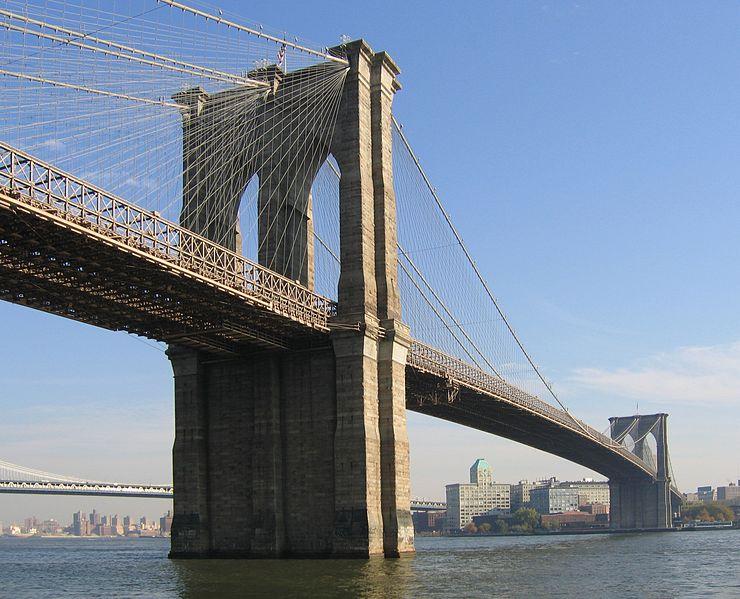 Na dwie godizny wstrzymano ruch na Moście Brooklińskim   fot.Wikipedia