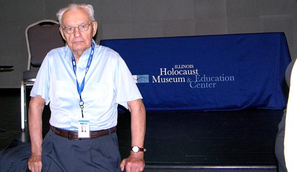 Jan Krawiec w Muzeum Holocaustu w Skokie  fot. A. Kazimierczak