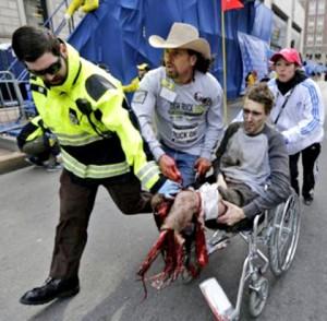 Jeff Bauman stracił obie nogi podczas wybuchu w Bostonie fot. PAP/ERA