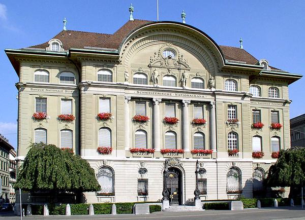 Siedziba Narodowego Banku Szwajcarskiego w Bernie fot. Baikonur/Wikimedia