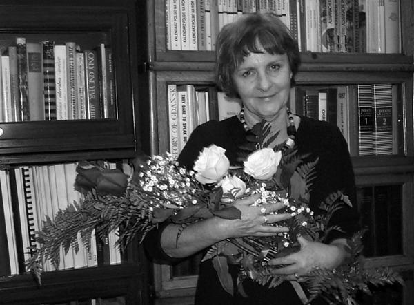 Ewa Bierezin w redakcji w dniu odejścia na emeryturę fot. archiwum