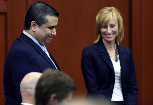 George Zimmerman podczas rozprawy fot. Gary W. Green/PAP/EPA