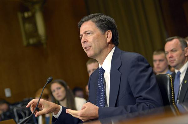 Nominowany przez prezydenta Baracka Obamę dyrektor Federalnego Biura Śledczego James Comey  fot. Shawn Thew/PAP/EPA