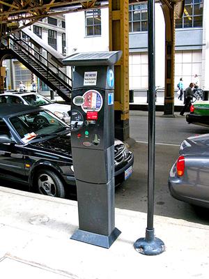 Parkometr na ulicy Wells w Chicago fot. Wesha/Wikimedia