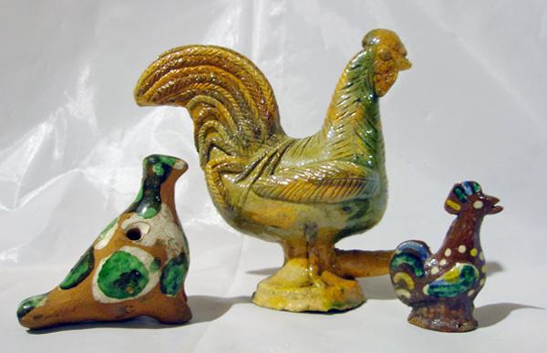 Ptaszki – koguciki glina