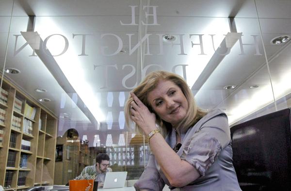Arianna Huffington, współzałożycielka Huffington Post fot. Kiko Huesca/PAP/EPA