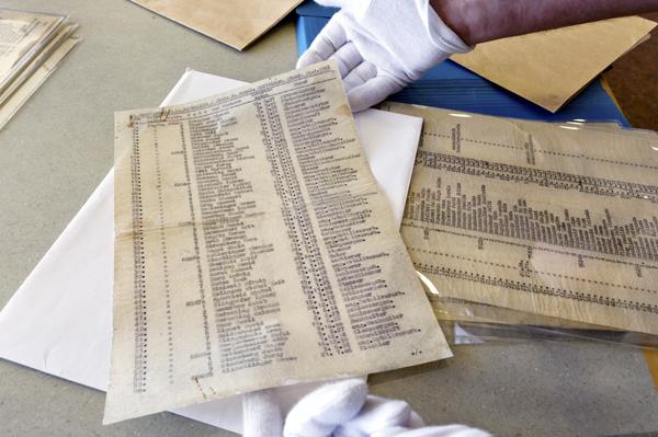 Jeden z niewielu pozostałych oryginałów Listy Schindlera będzie zlicytowany na eBayu i oczekuje się, że przyniesie od 3 do 5 milionów dolarów fot. Jim Hollander/PAP/EPA