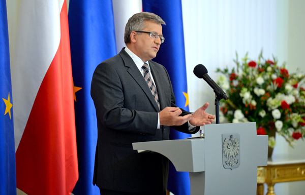 Prezydent Bronisław Komorowski fot. Jacek Turczyk/PAP
