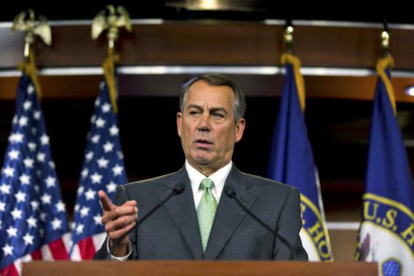 Republikański przewodniczący Izby John Boehner z Ohio fot. Jim Lo Scalzo/PAP/EPA
