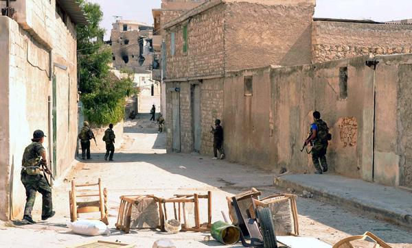Syryjskie siły zbrojne w prowincji Aleppo  fot. SANA/PAP/EPA