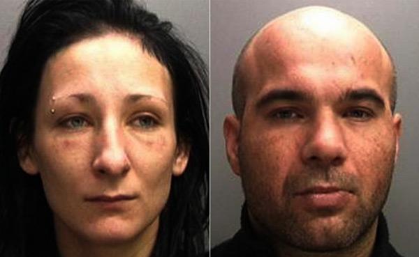 Arrest photos of Magdalena Luczak, 27, and Mariusz Krezolek, 34.