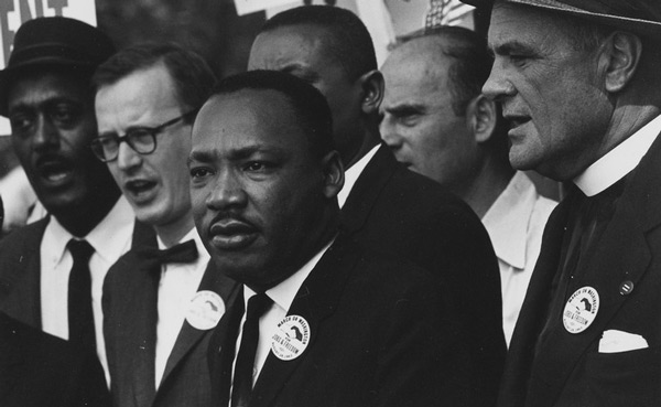 Martin Luther King podczas marszu na Waszyngton. 28 sierpnia 1963 roku. fot.  U.S. Information Agency. Press and Publications Service