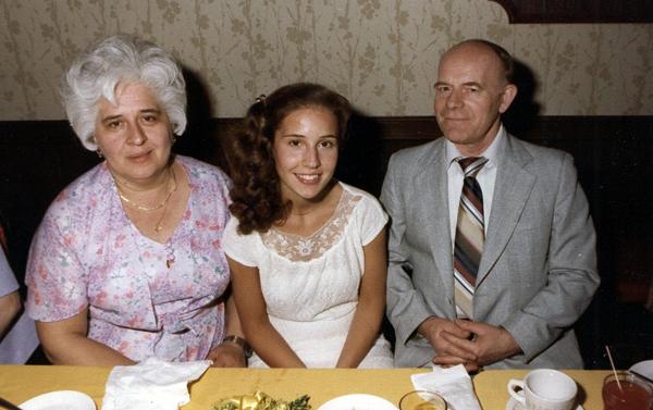 Krystyna z rodzicami