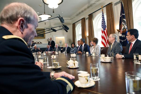 Spotkanie prezydenta USA z liderami Kongresu fot. Dennis Brack PAP/EPA