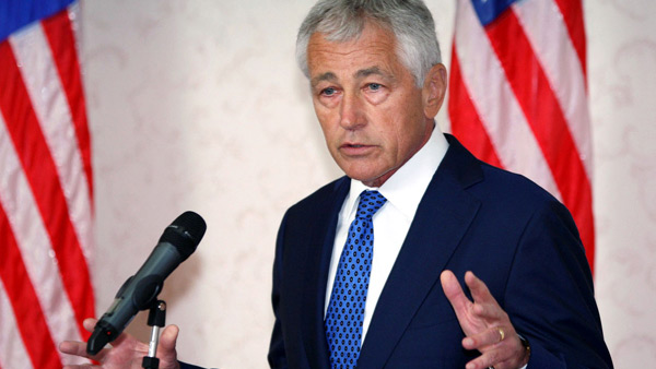 Sekretarz obrony USA Chuck Hagel fot. Shamshahrin Shamsudin/PAP/EPA