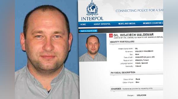 List gończy za ks. Wojciechem Gilem fot. Interpol