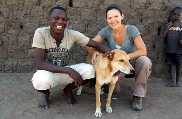 Misonga Machiya ze swoim psem Kabusha-B184 z Anną Czupryną