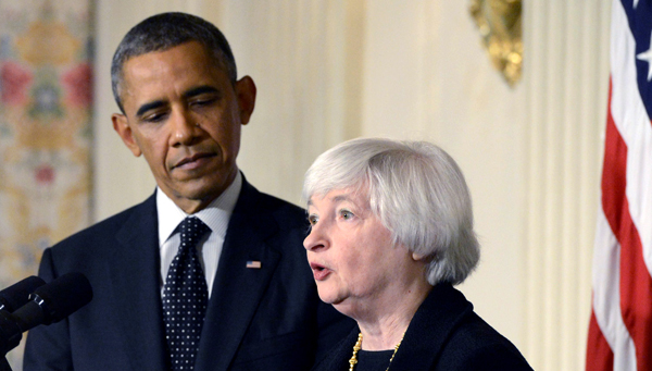 Prezydent USA Barack Obama i Janet Yellen fot. Michael Reynolds/PAP/EPA