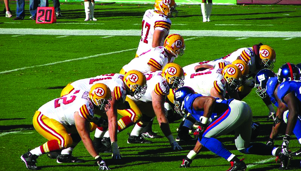 Washington Redskins w meczu z New York Giants fot. Marc Gallant/Flickr