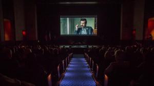 """Projekcja filmu """"Wałęsa. Człowiek z nadzie"""" na kapitolu fot. Jim Lo Scalo/PAP/EPA"""