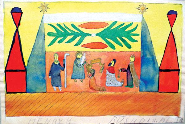 Szopka, rysował Henryk klasa I