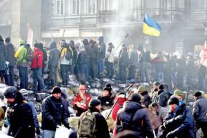 Protest w Kijowie, na Ukrainie fot.Zurab Kurtsikidze/PAP/EPA