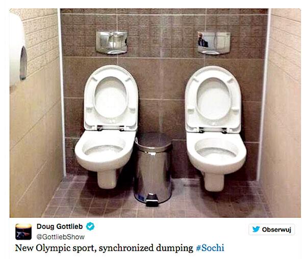 Słynne podwójne toalety fot.Doug Gottlieb/Twitter