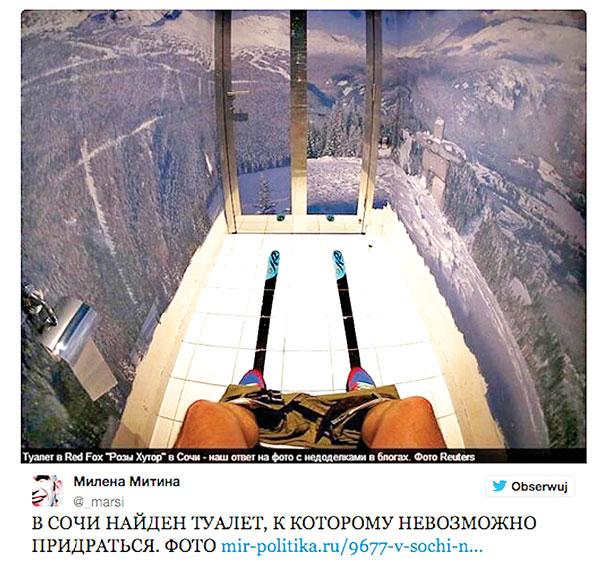 """Toaleta """"z widokiem"""" fot.Milena Mitina/Twitter"""