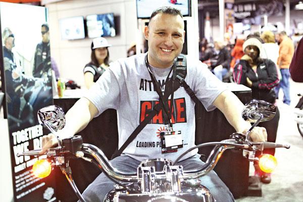 Piotr Narewski, czołowy chicagowski zawodnik, odnoszący sukcesy na amerykańskich zawodach crossowych fot.Artur Partyka