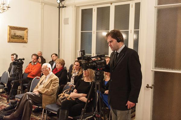W spotkaniu uczestniczyło kameralne grono przedstawicieli Polonii fot.Dariusz Lachowski