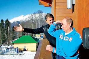 Władimir Putin z gubernatorem Krasnodaru Alexandrem Tkaczevem  fot.Press service of the president of Russia/Wikipedia