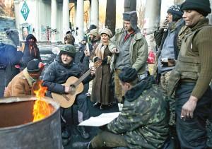 "Ukraińscy ""rebelianci"" fot.Sergey Dolzhenko/PAP/EPA"