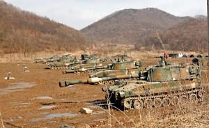Wspólne manewry wojsk USA i Korei Południowej w marcu 2013 roku fot.Jeon Heon-Kyun/PAP/EPA