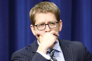 Jay Carney, rzecznik Białego Domu fot.Michael Reynolds/PAP/EPA
