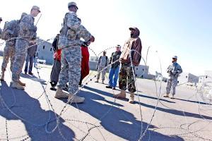 Trening żołnierzy Armii Amerykańskiej fot.Tami Chappell/PAP/EPA