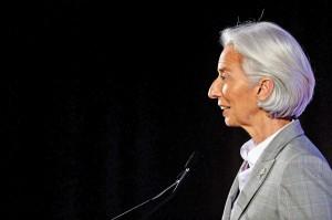 Szefowa Międzynarodowego Funduszu Walutowego Christine Lagarde fot.Dan Himbrechts/PAP/EPA