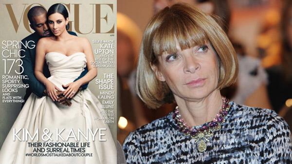 Okładka Vogua oraz naczelna magazynu Anna Wintour fot.Vogue/PAP/EPA