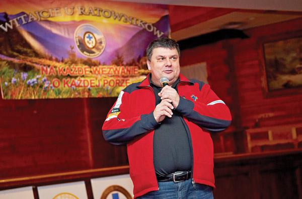Jacek Skoczeń, prezes Klubu Ratowników i Sympatykow TOPR z grupy krynickiej GOPR