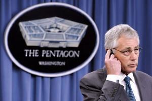 Sekretarz obrony Chuck Hagel fot.Michael Reynolds/PAP/EPA
