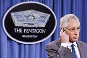 Minister obrony USA Chuck Hagel fot.Michael Reynolds/PAP/EPA
