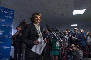Dianne Feinstein, demokratyczna senator z Kalifornii, która stoi na czele Senackiej Koisji ds. Wywiadu fot.Jim Lo Scalzo/PAP/EPA