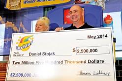 Daniel Stojak wygrał 2,5 mln dol. w loterii stanowej
